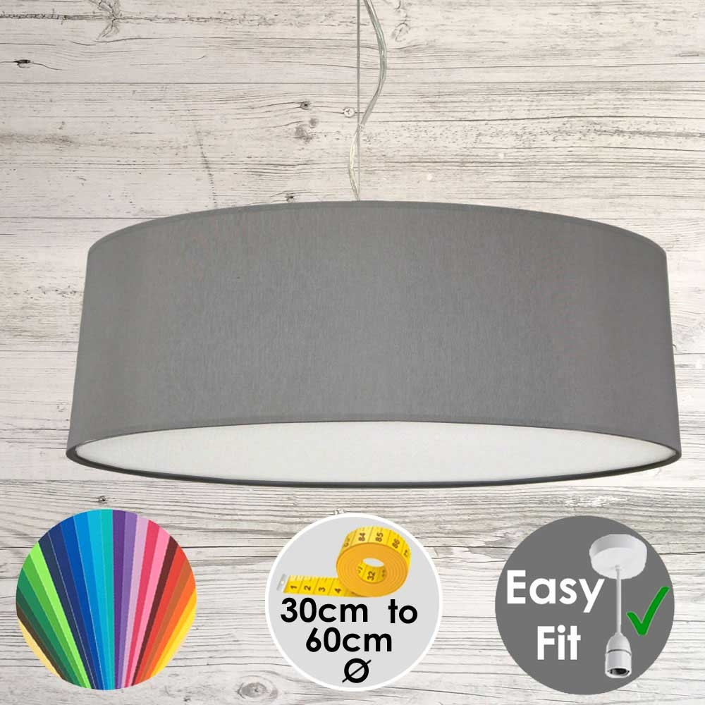 Grey Drum Light Shade